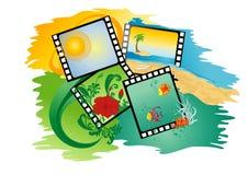 zdjęcia lato tropikalnych kolaż ilustracja wektor