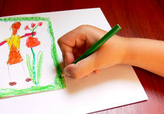 zdjęcie chłopca rysunku, zdjęcie royalty free