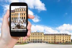 Zdjęcie fontanna, Schonbrunn pałac, Wiedeń Fotografia Stock
