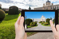 Zdjęcie historii naturalnej muzeum w Wiedeń Zdjęcia Stock