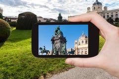 Zdjęcie imperatorowej Maria Theresa statua w Wiedeń Zdjęcie Royalty Free