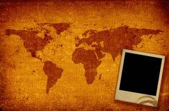 zdjęcie mapy ramowy świat Obraz Royalty Free
