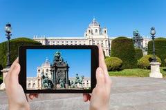 Zdjęcie Maria Theresa zabytek w Wiedeń Fotografia Stock
