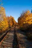 zdjęcie punktu kolejowej zniknąć sepiowy drogi ton Obraz Royalty Free