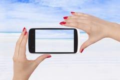 Zdjęcie pusta biała piasek plaża Obraz Royalty Free