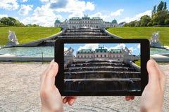 Zdjęcie górna fontanny kaskada w belwederze Zdjęcie Stock