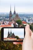 Zdjęcie katedra St Peter i Paul w Brno Fotografia Royalty Free