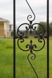 Zdobny żelaza ogrodzenie Zdjęcie Stock