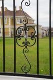 Zdobny żelaza ogrodzenie Fotografia Stock