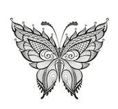 Zdobny abstrakcjonistyczny motyl Fotografia Stock