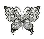 Zdobny abstrakcjonistyczny motyl Obraz Stock