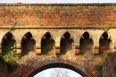Zdobny cegła łuk, Niemcy zdjęcia royalty free