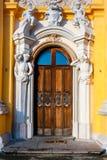 Zdobny drzwi Wilanow pałac w Warszawa zdjęcia royalty free