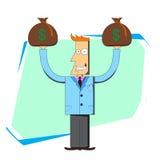 zdojest biznesmena pieniądze Ilustracja Wektor