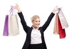 zdojest biznesowych mienia zakupy kobiety potomstwa Zdjęcie Stock