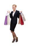 zdojest biznesowych mienia zakupy kobiety potomstwa Obrazy Stock