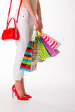 zdojest dziewczyna kolorowego zakupy zdjęcie stock