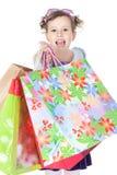 zdojest dziewczyny target656_0_ trochę nad zakupy biel Fotografia Stock