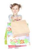 zdojest dziewczyny trochę nad zakupy biel Fotografia Royalty Free