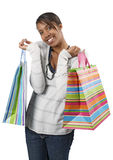 zdojest kolorowego szczęśliwego kupującego Obraz Stock