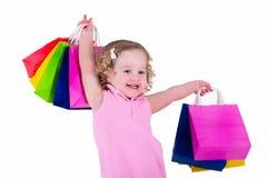 zdojest małego dziewczyna zakupy Zdjęcia Royalty Free