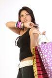 zdojest nastoletniego dziewczyna zakupy zdjęcia stock