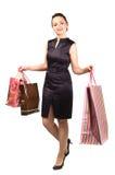 zdojest szczęśliwych zakupy kobiety potomstwa zdjęcia royalty free