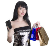 zdojest wspaniałej zakupy portfla kobiety zdjęcie stock
