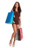zdojest zakupy kolorowej kobiety Zdjęcia Stock