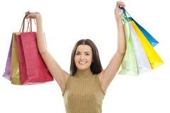 zdojest zakupy szczęśliwej kobiety Fotografia Royalty Free