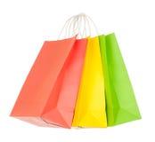 zdojest zielonego papieru czerwonego zakupy kolor żółty Obrazy Stock