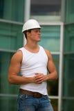 zdolny pracownika budowlanych Fotografia Stock