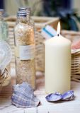 Zdrój świeczek skład obrazy stock