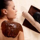 Zdrój dla młodej kobiety odbiorczej kosmetyka maski Zdjęcie Royalty Free