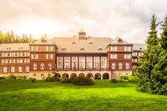 Zdrój domowy Libuse w Karlova Studanka zdroju kurorcie, Hruby Jesenik, republika czech Fotografia Royalty Free
