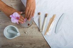 Zdrój podstawy dla manicure'u Obraz Royalty Free
