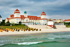 ZDRÓJ przy morzem bałtyckim Kurhaus Binz Zdjęcia Royalty Free