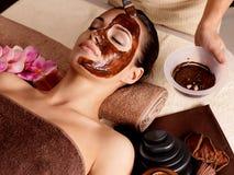 Zdrój terapia dla kobieta kosmetyka odbiorczej maski Fotografia Stock