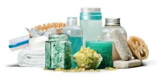 Zdrój ustawiający: Aromatherapy butelki z pętaczką zdjęcie stock