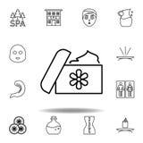 Zdr?j ma??, medycyna konturu ikona Szczegółowy set zdrój i relaksuje ilustracji ikonę Mo?e u?ywa? dla sieci, logo, mobilny app, U royalty ilustracja