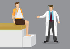Zdradzona ręki lekarki konsultaci kreskówki wektoru ilustracja Obraz Stock