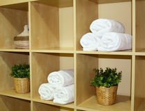 zdrojów ręczniki Zdjęcie Stock