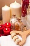 Zdroju i masażu rzeczy zdjęcia stock
