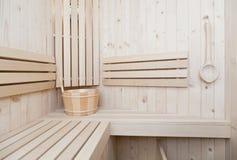 Zdroju i wellness accessores w sauna Zdjęcia Royalty Free