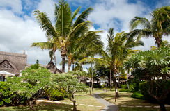 Zdroju kurort w tropikalnej scenerii Fotografia Stock