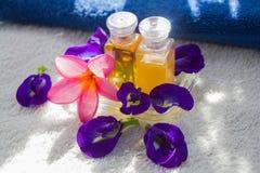 Zdroju kwiat i olej Obrazy Stock