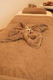 Zdroju masażu łóżko Obraz Royalty Free