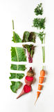 Zdrowa żywność organiczna, surowi rżnięci warzywa, mieszkanie nieatutowy Fotografia Stock