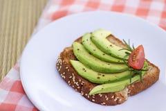 Zdrowa avocado grzanka Zdjęcie Stock