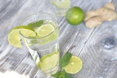 Zdrowa detox woda obraz stock